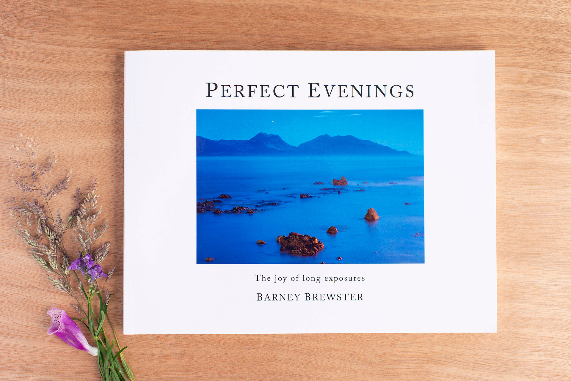 Perfect Evenings book cover by Barney Brewster, photo taken by Nana Jones