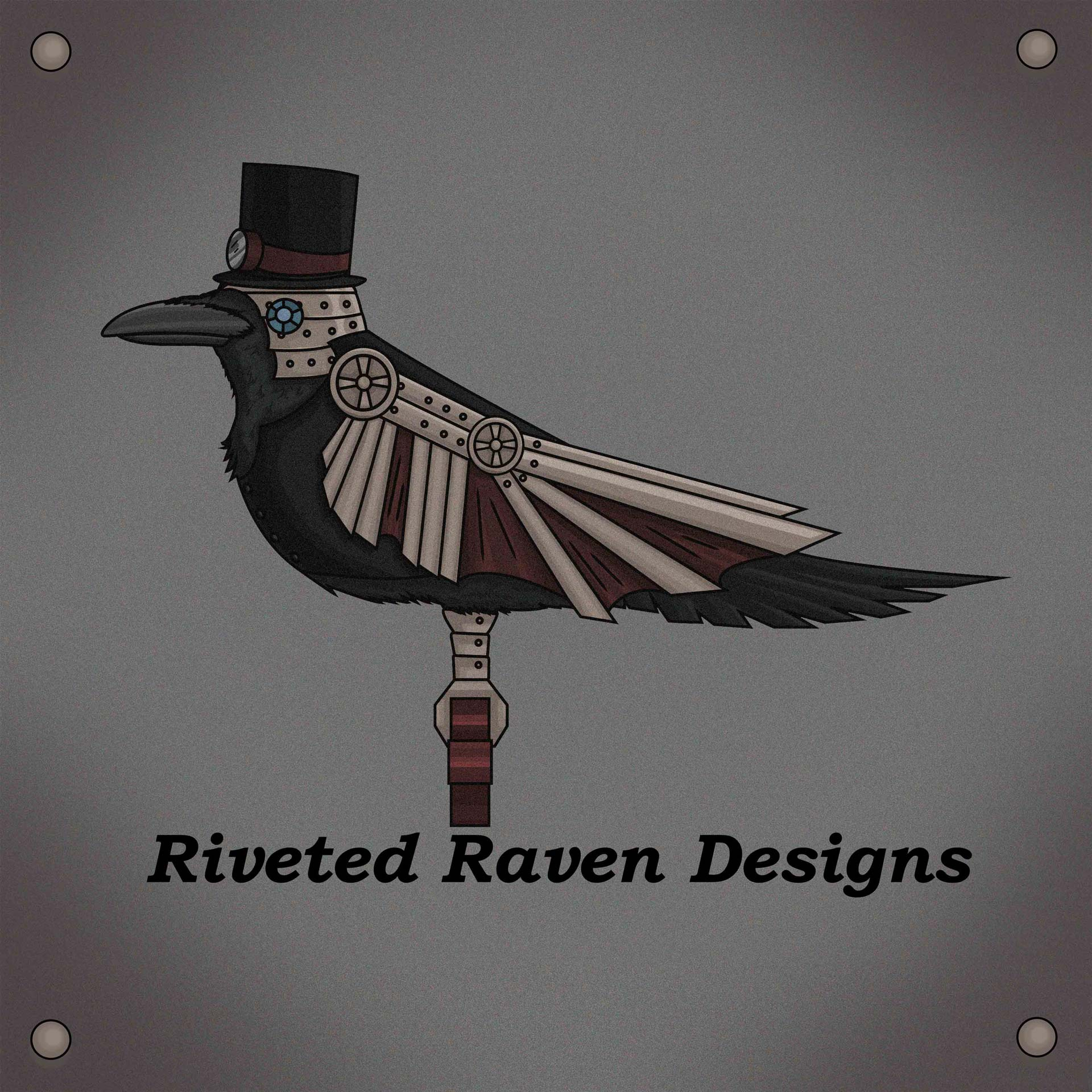 Riveted Raven logo by Yana Brewster