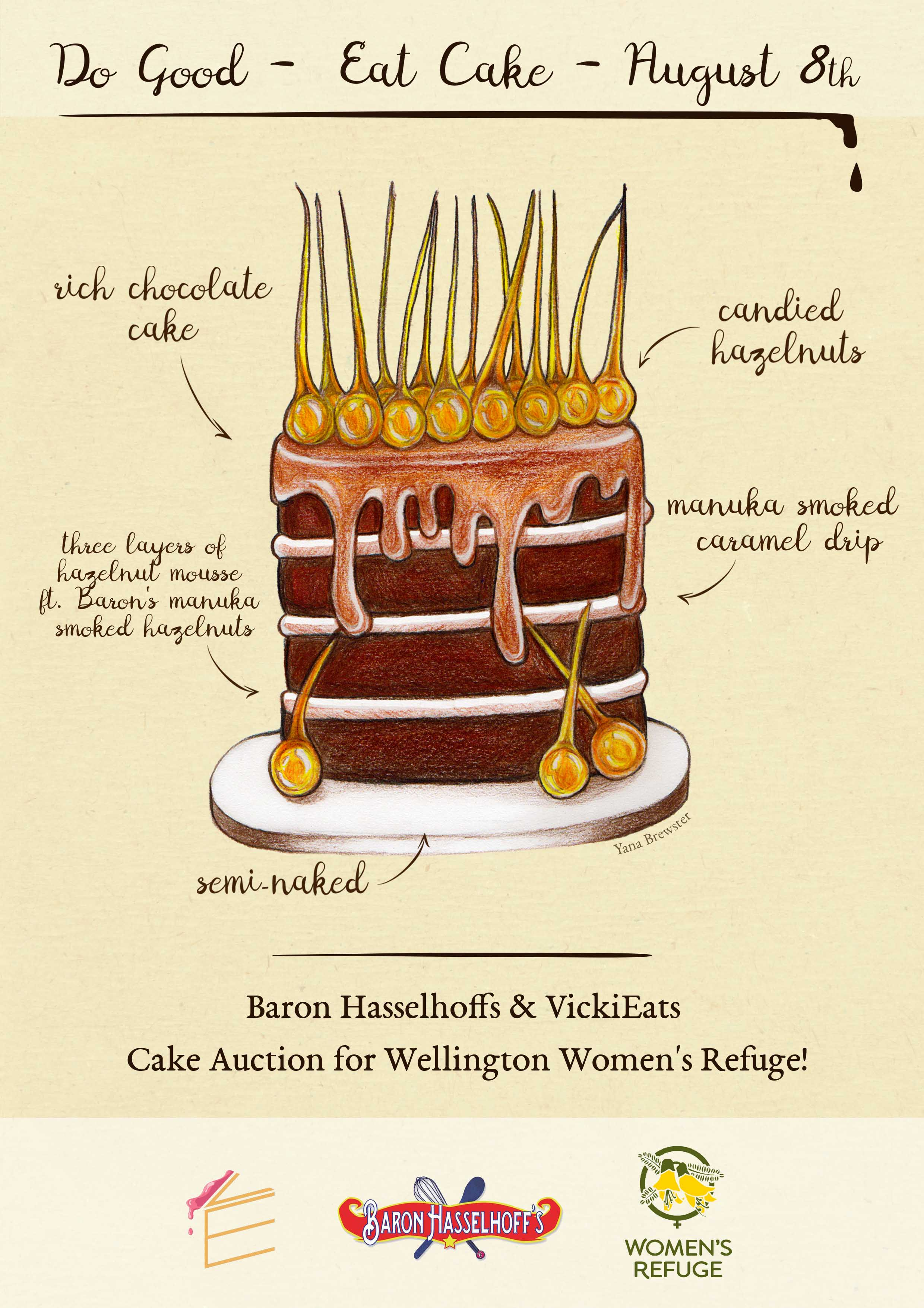 Womens Refuge Cake Auction Poster by Yana Brewster